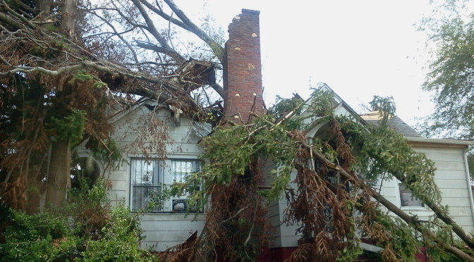 Damage from April 16th Tornado in Raleigh